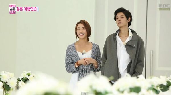 """จองจุนยองและจองยูมีฝึกซ้อมพิธีแต่งงานของพวกเขาในรายการ """"We Got Married"""""""