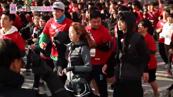 ในที่สุด!!จองจุนยองและจองยูมีก็ได้วิ่งมาราธอนในรายการ We Got Married!!