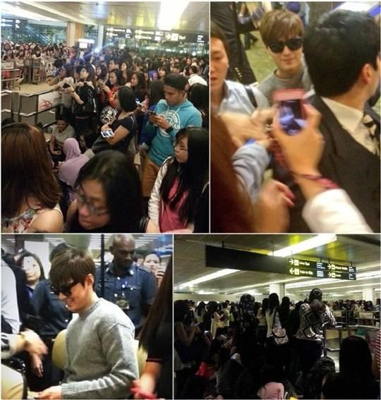 แฟนๆสิงคโปร์กว่า 2,000 คนรอต้อนรับอีมินโฮ (คิมทัน) อย่างอบอุ่นที่สนามบิน