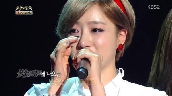 """อึนจอง T-ARA หลั่งน้ำตาเมื่อพูดถึงคุณพ่อของเธอในรายการ """"Immortal Song 2"""""""