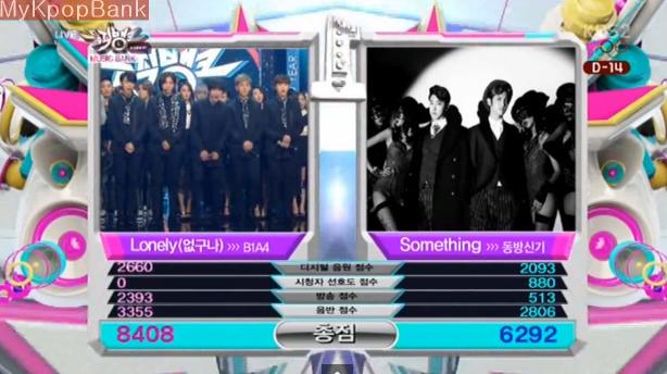 [Live]140124 ผู้ชนะในรายการ Music Bank ได้แก่...B1A4!!! + การแสดงวันนี้