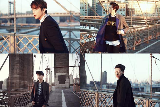 """CNBLUE ปล่อยภาพทีเซอร์ของพวกเขาในนิวยอร์กสำหรับการคัมแบ็ค """"Can't Stop"""""""