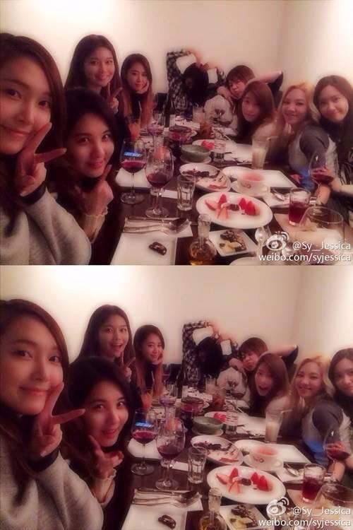 Girls' Generation ฉลองการคัมแบ็คของพวกเธอด้วยการทานอาหารร่วมกัน