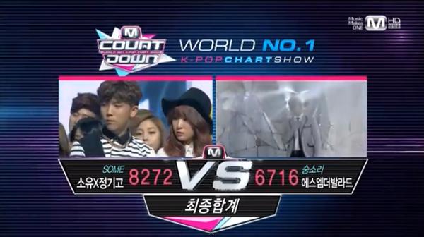[Live]140220 ผู้ชนะในรายการ M!Countdown ได้แก่...โซยู&จองกิโก!! + การแสดงวันนี้