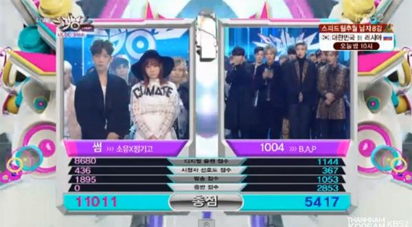 [Live]140221 ผู้ชนะในรายการ Music Bank ได้แก่...โซยู&จองกิโก!! + การแสดงวันนี้