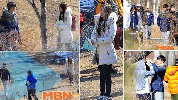 """ซูจี, คิมซูฮยอน และจอนจีฮยอนถูกพบขณะถ่ายทำละคร """"You Who Came From the Stars"""""""
