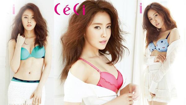 """ฮโยมิน T-ARA โชว์ความเซ็กซี่ของเธอผ่านการถ่ายแฟชั่นชุดชั้นในกับนิตยสาร """"Ceci"""""""