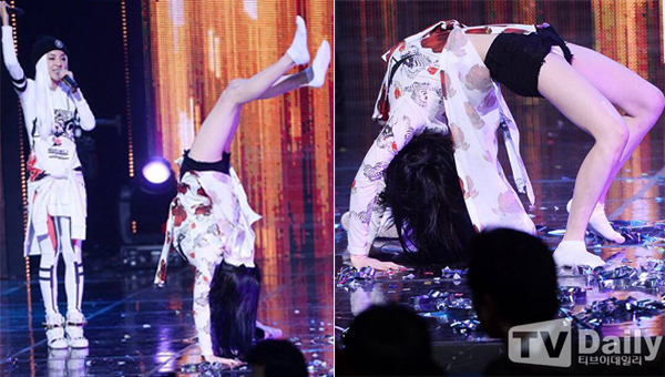 ตามสัญญา!!พัคบอมโชว์ตีลังกาบนเวที M!Countdown หลังจาก 2NE1 คว้าอันดับหนึ่งในรายการ!!