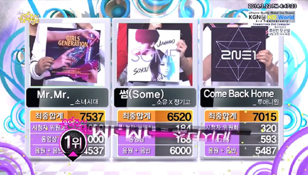 [Live]140322 ผู้ชนะในรายการ Music Core ได้แก่...Girls Generation!! + การแสดงวันนี้