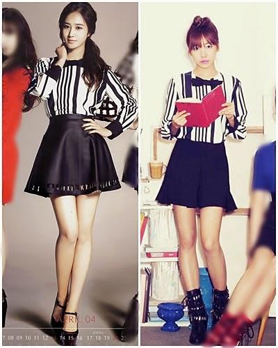 ใครใส่แล้วดูดีกว่ากันระหว่าง: ยูริ SNSD และนัมจู A Pink!!