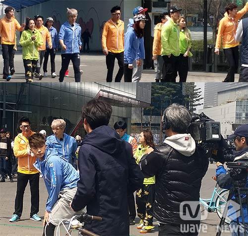 ว้าว!!2NE1, 2PM, ยุนจงชินและคนอื่นๆถูกพบขณะถ่ายทำรายการ Running Man!!