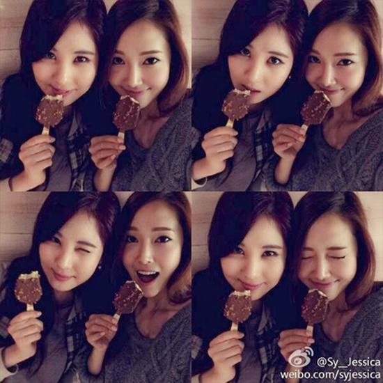 สองสาวซอฮยอนและเจสสิก้า SNSD ชวนแฟนๆกินไอศครีมในหน้าร้อน