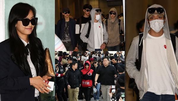 ภาพแฟชั่นสนามบินวิคตอเรีย f(x), 2PM และ CNBLUE กลับจาก LA และ EXO กลับจากญี่ปุ่น
