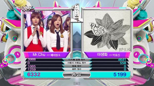 11/4/2014 ผู้ชนะในรายการ Music Bank ได้แก่... A Pink!!! + การแสดงวันนี้