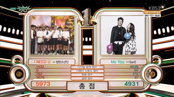 BTS-Winner Music Bank 080515