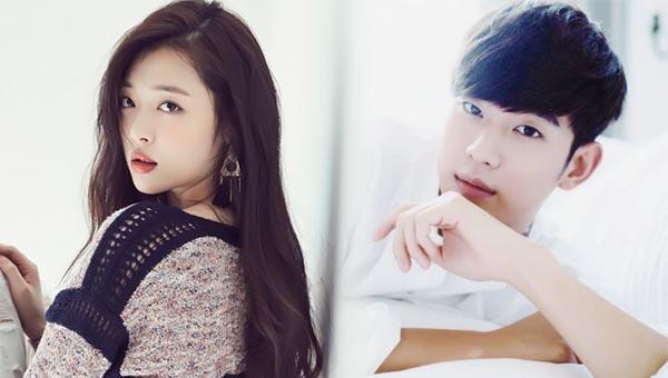 sulli-kim soo hyun-bed scene