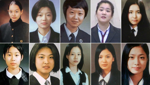 actress-before-after-unifrom-school